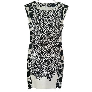 French Connection cat sleeve pencil dress
